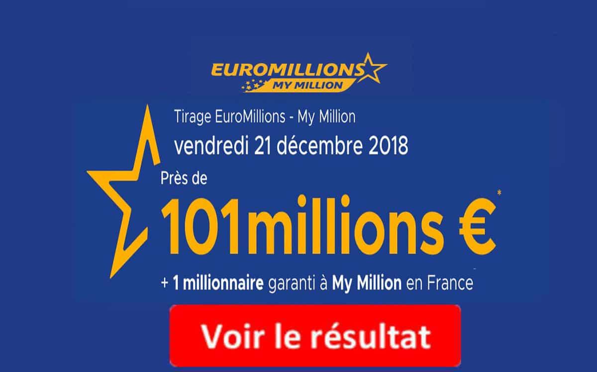 resultat euromillion vendredi 21 decembre 2018