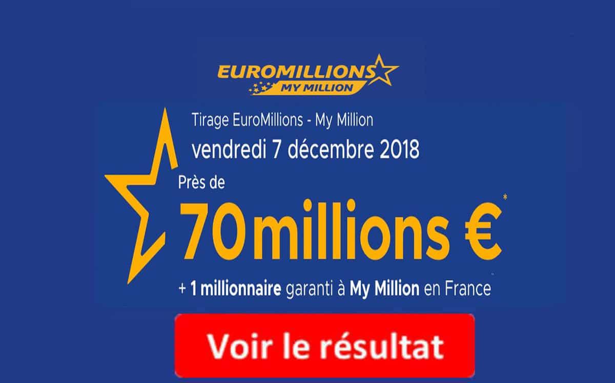 resultat euromillions vendredi 7 novembre 2018