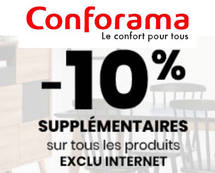 Conforama Code Promo De 10 De Reduction Sur Une Selection D Exclus