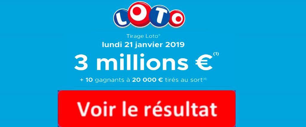 fdj resultat loto 21 janvier 2019