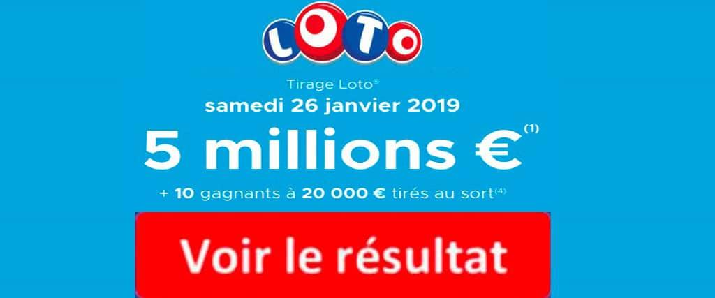 resultat loto 26 janvier 2019