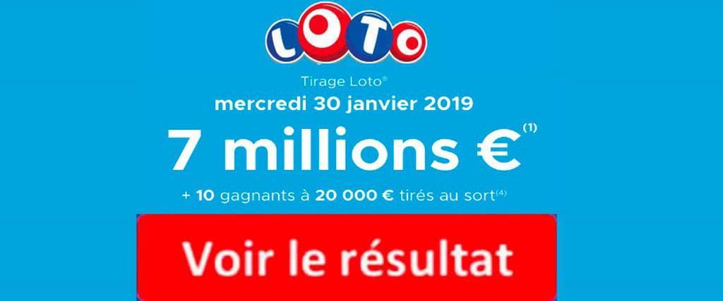 resultat loto 30 janvier 2019