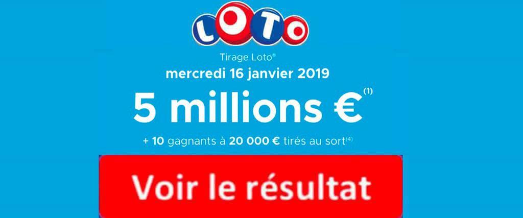 fdj resultat loto 16 janvier 2019