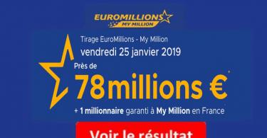 resultat euromillions vendredi 25 janvier 2019