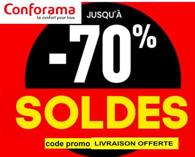 soldes conforama 2019 jusqu 39 70 de r duction code. Black Bedroom Furniture Sets. Home Design Ideas