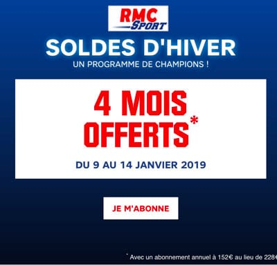 soldes rmc sport promo