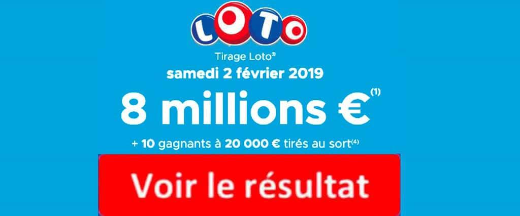 fdj résultat loto 2 Fevrier 2019