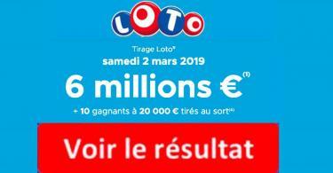 resultat loto 2 mars 2019