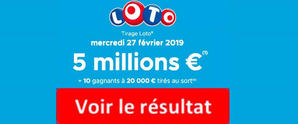 resultat loto 27 février 2019
