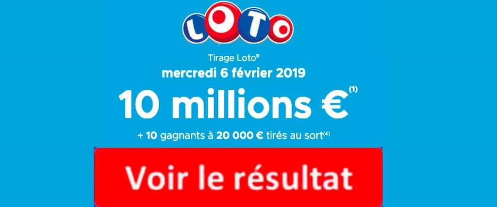 fdj résultat loto 6 Janvier 2019
