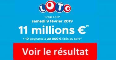 fdj resultat loto 9 février 2019