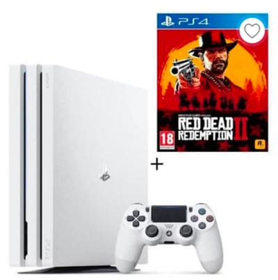 pack ps4 pro 1 to red dead redemption 2 pas cher promotion cdiscount ici. Black Bedroom Furniture Sets. Home Design Ideas