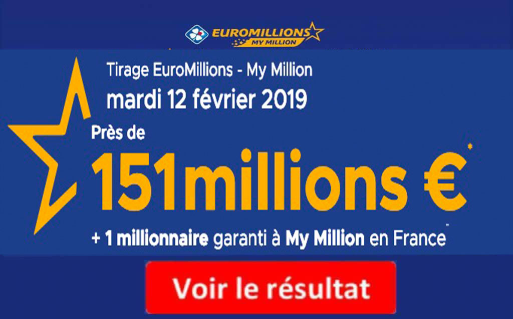 resultat euromillions mardi 12 février 2019