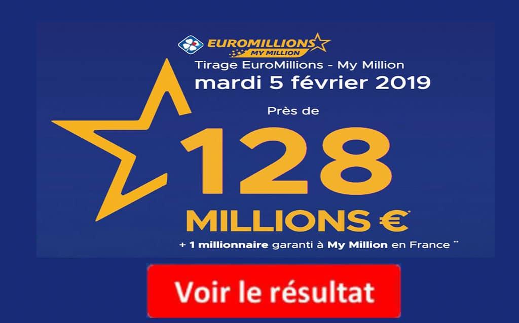 resultat euromillions mardi 5 feverier 2019