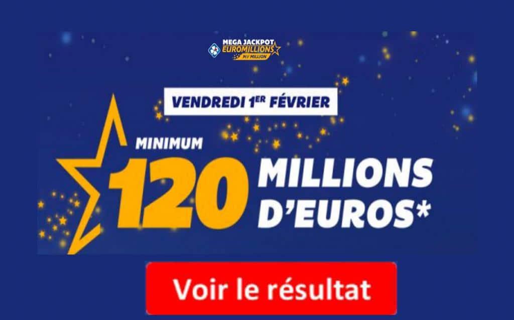 resultat euromillions vendredi 1 février 2019