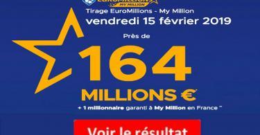 resultat euromillion vendredi 15 février 2019