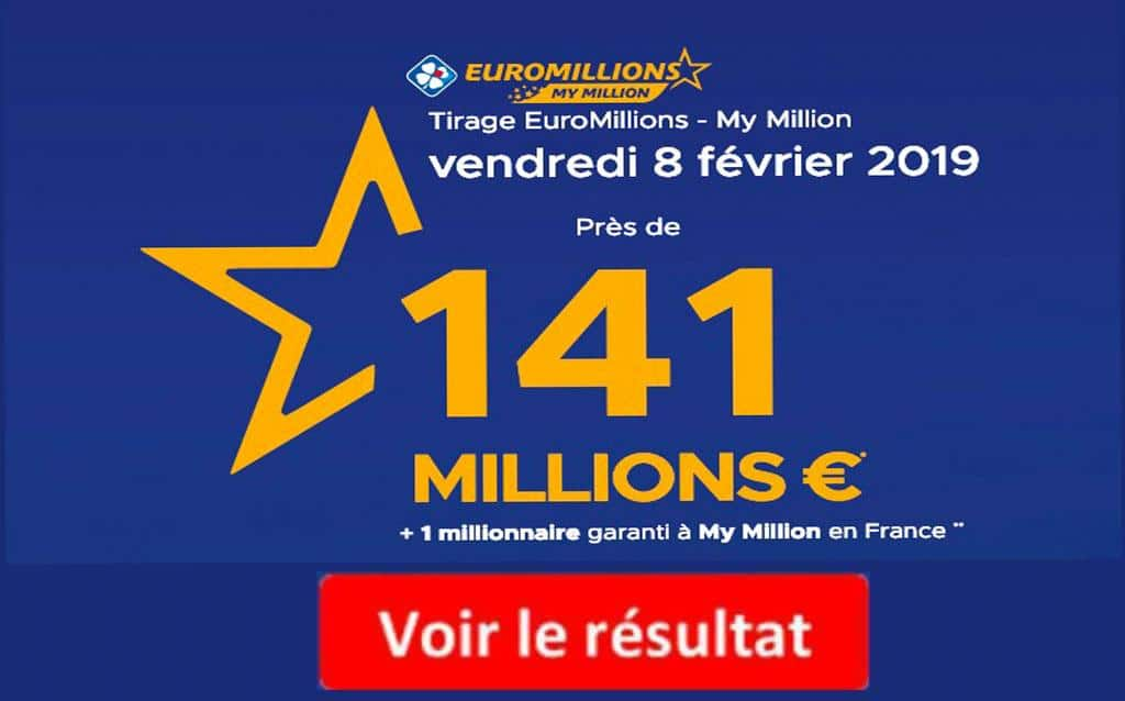 resultat euromillions vendredi 8 février 2019