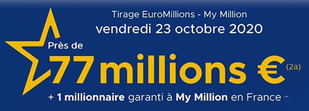 Resultat Euromillions 23 octobre 2020