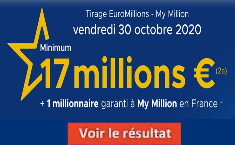 Resultat Eurmillions 30 octobre 2020