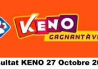 Resultat KENO 27 octobre 2020 tirage midi et soir