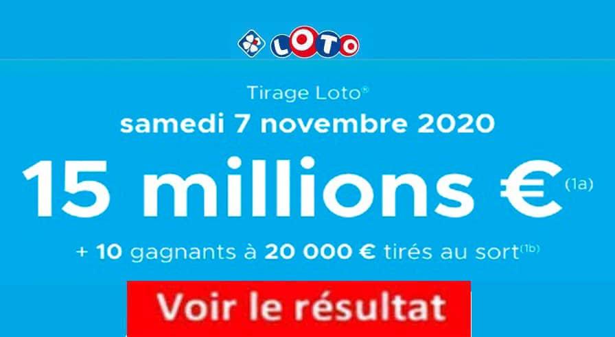 Resultat LOTO 7 Novembre 2020 joker+ et codes loto gagnant