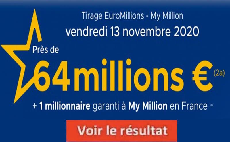 Resultat Euromillion 13 Novembre 2020