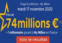 Resultat Euromillion 17 Novembre 2020