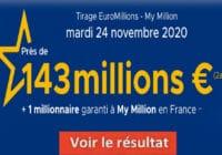 Resultat Euromillions 24 Novembre 2020