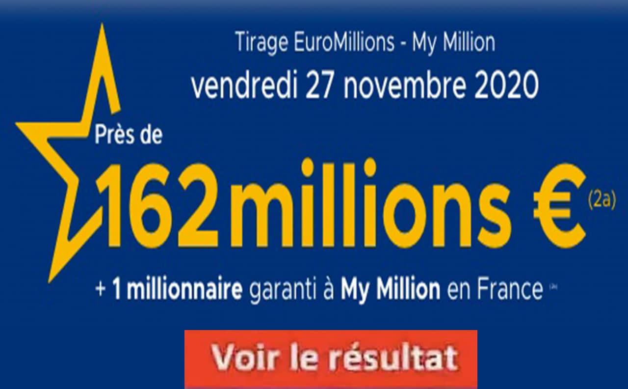 Resultat Euroomillions 27 Novembre 2020