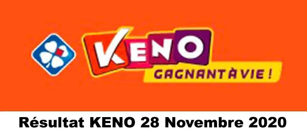 Resultat KENO 28 Novembre 2020 tirage midi et soir