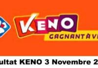Resultat KENO 3 novembre 2020 tirage midi et soir
