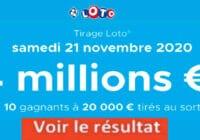 Resultat LOTO 21 Novembre 2020 joker+ et codes loto gagnant