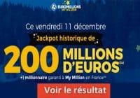 Résultat Euromillion 11 decembre 2020 mega jackpot et gains