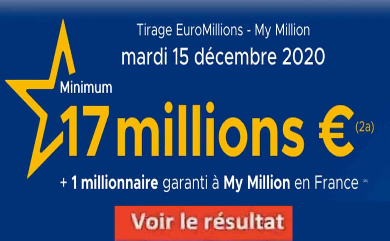 Resultat Euromillion 15 decembre 2020