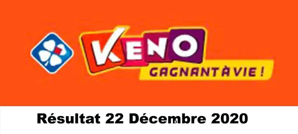 Résultat KENO 22 Décembre 2020 tirage midi et soir
