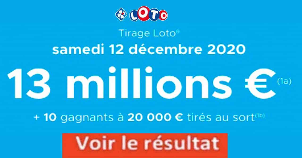 Resultat LOTO 12 décembre 2020 joker+ et codes loto gagnant