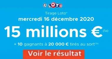 Résultat LOTO 16 Décembre 2020 joker+ et codes loto gagnant