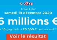 Résultat LOTO 19 Décembre 2020 joker+ et codes loto gagnant