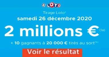 Resultat LOTO 26 Décembre 2020 joker+ et codes loto gagnant