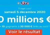 Resultat LOTO 5 décembre 2020 joker+ et codes loto gagnant