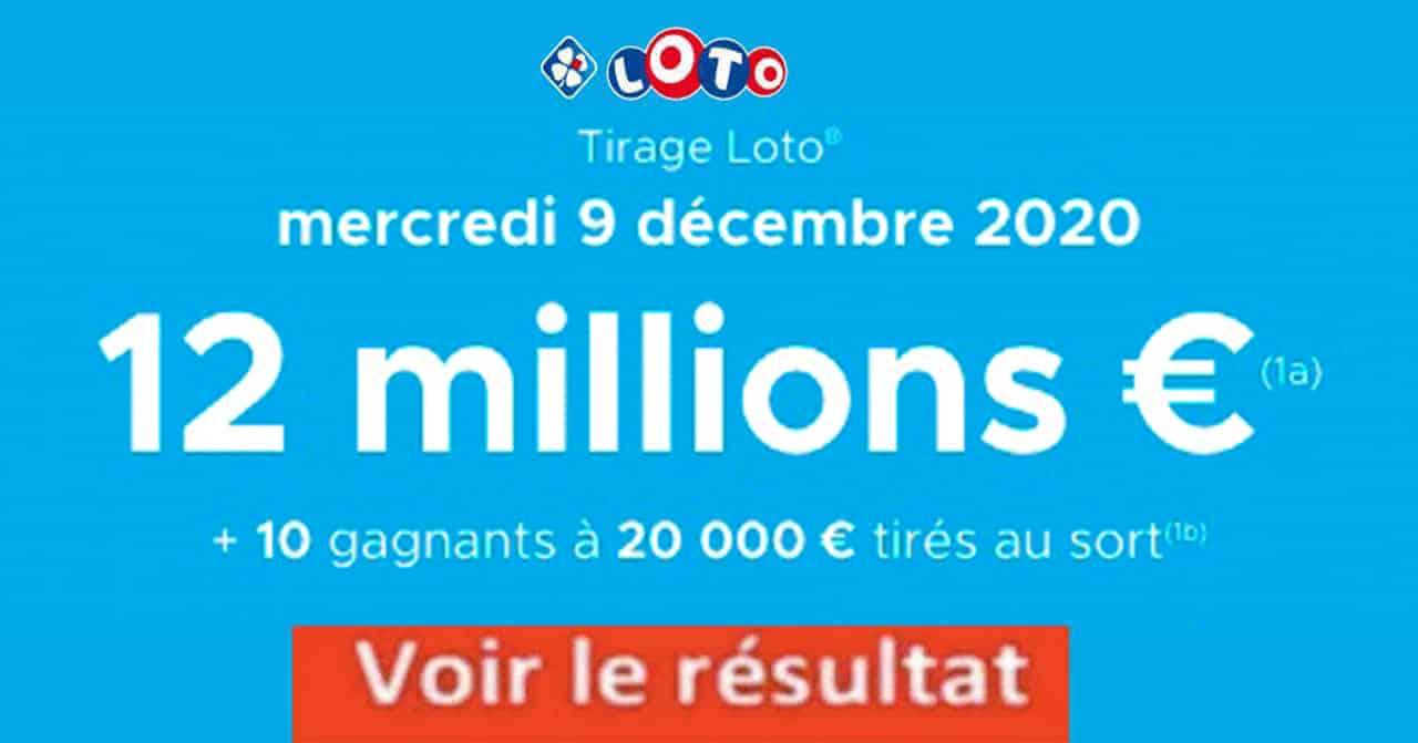Resultat LOTO 9 décembre 2020 joker+ et codes loto gagnant