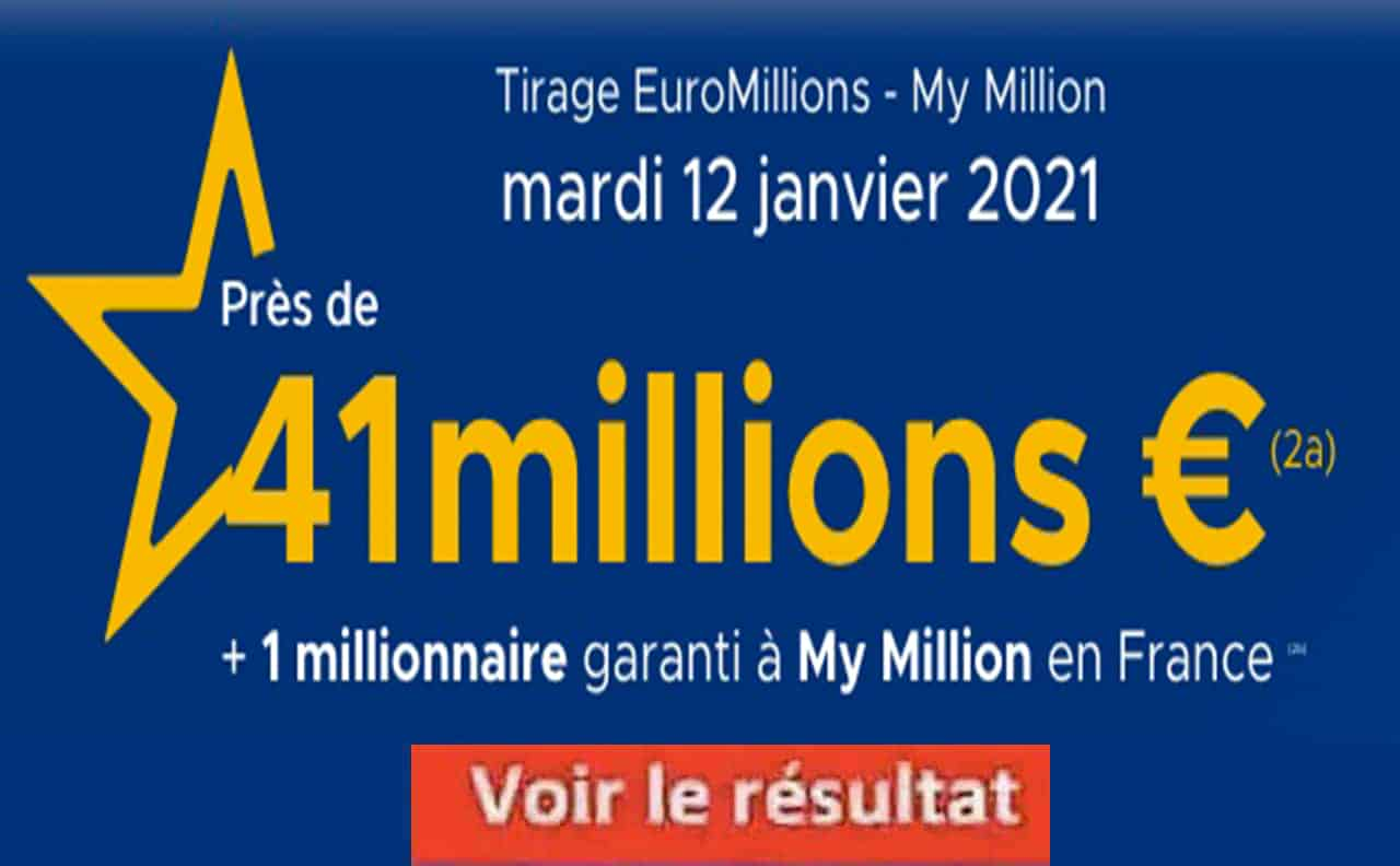 Resultat Euromillion 12 Janvier 2021