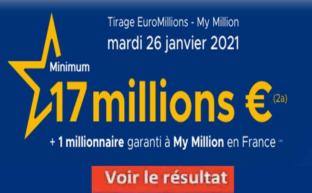 Resultat Euromillion 26 Janvier 2021