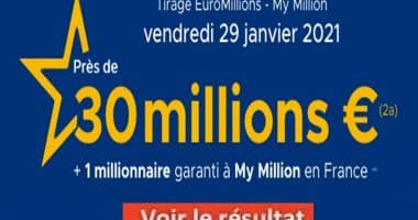 Resultat Euromillion 29 Janvier 2021