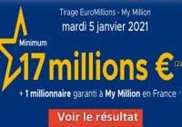 Resultat Euromillion 5 janvier 2021