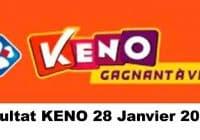 Resultat KENO 28 Janvier 2021 tirage midi et soir