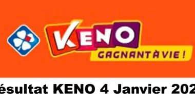 Resultat KENO 4 Janvier 2021 tirage midi et soir