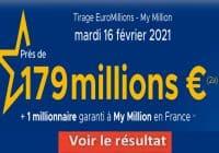 Resultat Euromillion 16 fevrier 2021