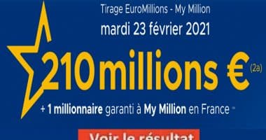 Resultat Euromillion 23 février 2021