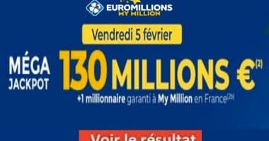 Resultat Euromillion Mega Jackpot 5 Février 2021